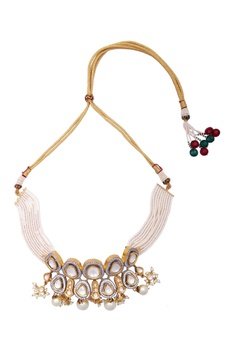 Kundan & Pearl Beaded Choker Set