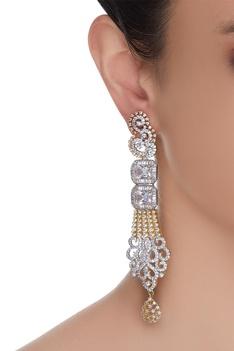 Droplet Stye stone Earrings