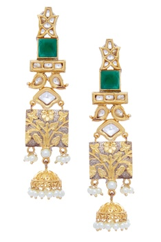 Earrings with jhumkas