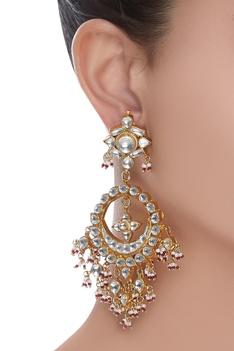 Floral Top Chandbali Earrings