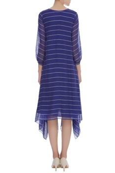 Asymmetric Striped Dress