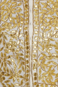 Gota Embroidered Blouse With lehenga & Dupatta