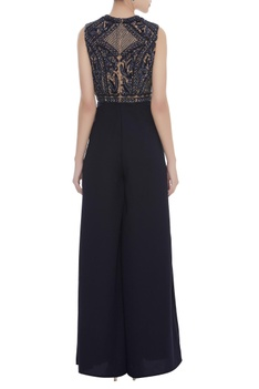 Sequin & Cutdana Embroidered Jumpsuit