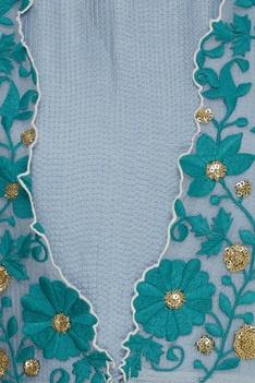 Floral Embroidered Tassel Anarkali Set