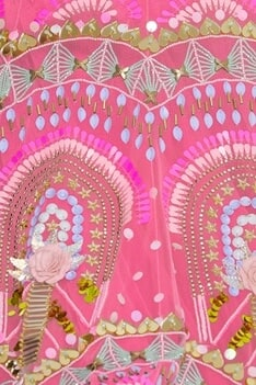 Cutdana embroidered lehenga set