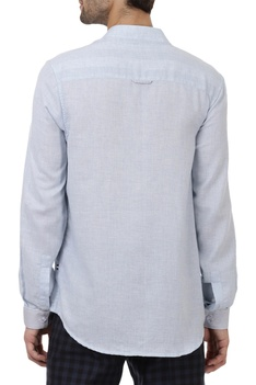 Mandarin collar Solid regular fit shirt