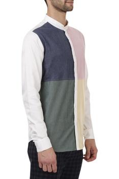 Colour block\ regular shirt