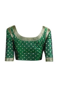 Bird embroidered sari with blouse