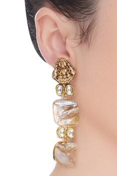 Temple pearl earrings