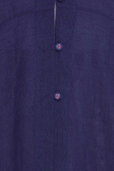 Embroidered tunic jacket with button detail