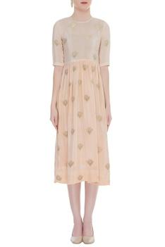 Gandaberunda Embroidered Midi Dress