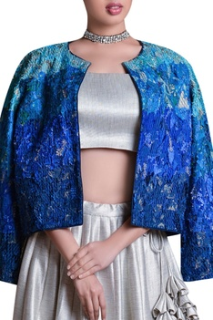 Front open top stitch jacket