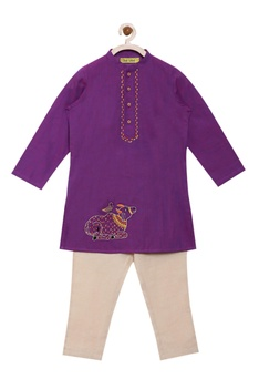 Threadwork embroidered kurta set