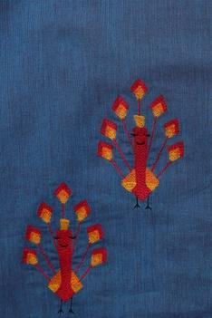Embroidered peacock kurta with pants
