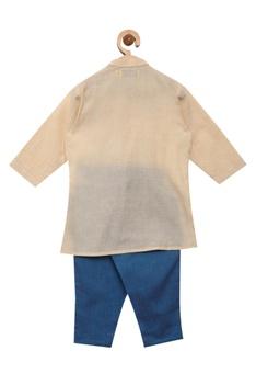 Peacock embroidered kurta with pants