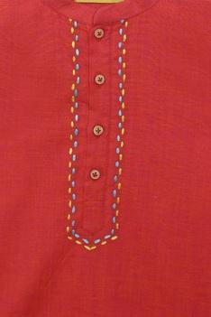 Fish embroidered kurta set