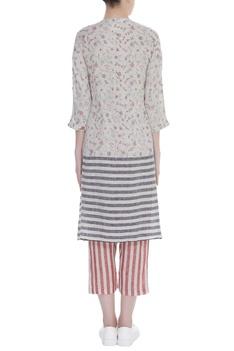 Block print striped tunic