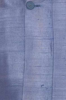 Asymmetric raw silk bundi