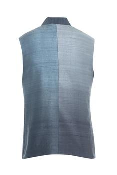 Ombre raw silk bundi