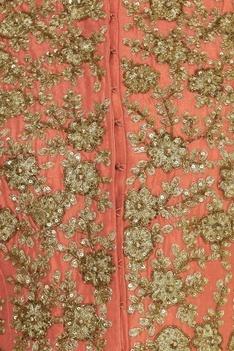 Dori Embroidered Jacket Style Kurta Lehenga