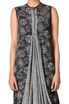 Printed cowl dress