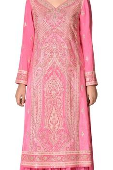 Embroidered kurta with lehenga skirt