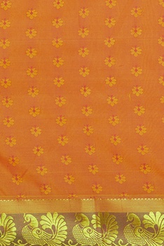 Sari with handwoven border & unstitched blouse