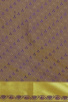 Sari with handwoven border and unstitched blouse