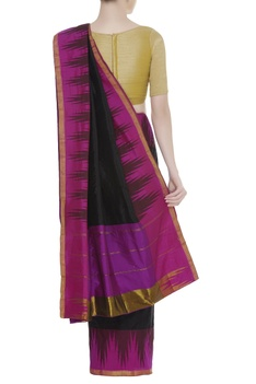 Handwoven sari with unstitched blouse