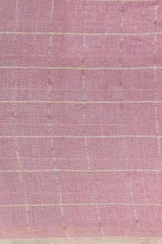 Gold grid linen sari