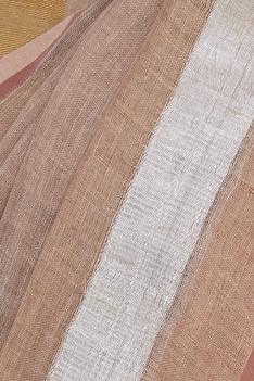 Striped linen sari