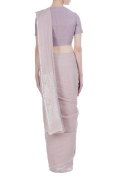 Classic handwoven linen sari