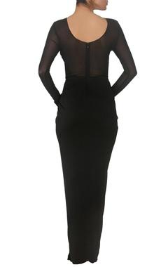 Black embellished maxi dress