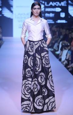 Black rose cutwork ball skirt