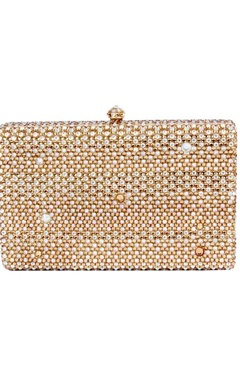 Champagne gold rectangular clutch