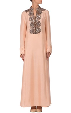 Light peach embellished tunic with palazzos