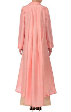 Soft pink high low tunic