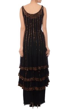 Black & gold layered kurta set