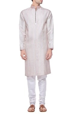 Ivory threadwork kurta