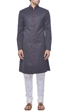 Plain black sherwani