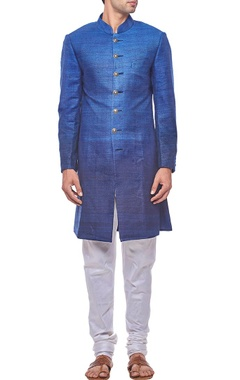 Royal blue ombre sherwani