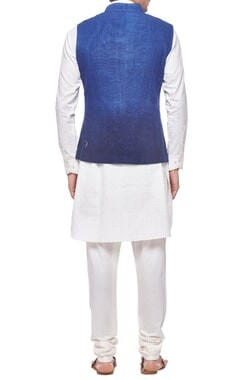 Deep blue ombre nehru jacket