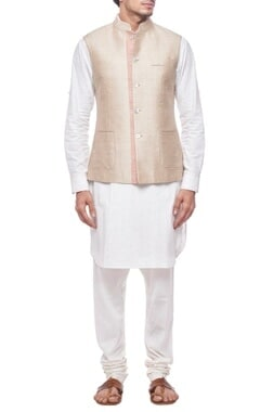 Light beige nehru jacket