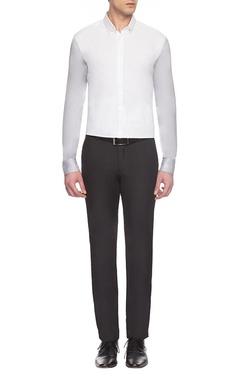 white & grey classic shirt