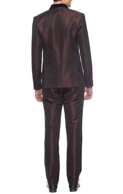 Maroon textured tuxedo