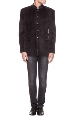 Theorem Black velvet quilted jacket
