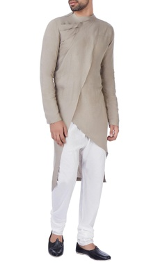 Antar-Agni Grey draped kurta