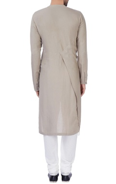 Grey draped kurta