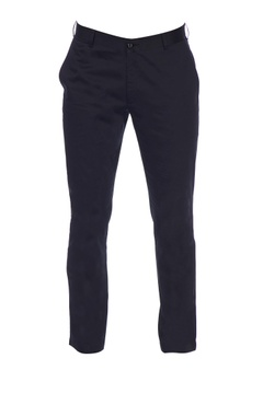 Black vbc worsted wool solid trousers