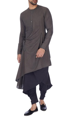 Antar-Agni Grey solid draped kurta